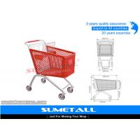 Buy cheap Classic 125L Plastic Shopping Cart With Wheels , Grocery Store Shopping Carts from wholesalers