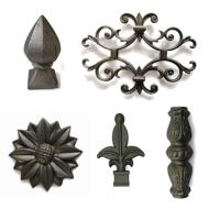 Buy cheap Forged Wrought Iron Ornaments Corrosion Resistance , Fence Cast Iron Items from wholesalers