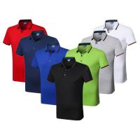 Buy cheap Silk Cotton Custom Embroidered Polo Shirts Athletic Stretch Moisture Wicking from wholesalers