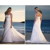 Buy cheap most popular organza beading strapless wedding gowns from wholesalers