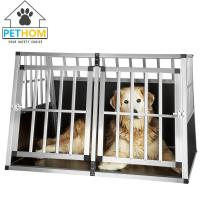 Buy cheap XXL Dog Cage Transport Partition Box Crate Dog Carrier 2 Door Puppy Training ZX104B1 from wholesalers