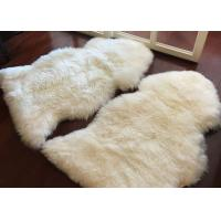 Buy cheap Living Room Soft White Fur Floor Rug , Smooth Wool Sheepskin Car Seat Covers  from wholesalers