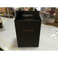 Buy cheap Wholesale fancy corrugated mailer box corrugated wine box for two bottles with handle from wholesalers