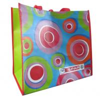 Buy cheap Supermarket colorful 120gsm handy recyclable PP woven shopping bags from wholesalers