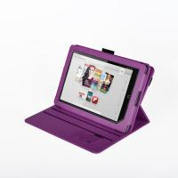 Buy cheap Eco Protective Flip Nook Color Leather Case Stand Purple , 360 Degree Rotating from wholesalers