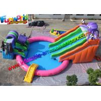 Buy cheap Mini 15m Diameters Inflatable Water Parks Customized White With 680w Pump from wholesalers