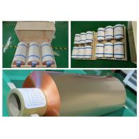 Buy cheap Mylar Tape Roll Of Copper Foil , High Tensile Strength Copper Roll Flashing from wholesalers