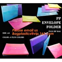 Buy cheap pp envelope pocket folder custom cute printed a4 plastic document carrying file folder bag from wholesalers