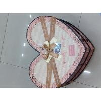 Buy cheap pink heart shape cardboard box for gift packaging from wholesalers