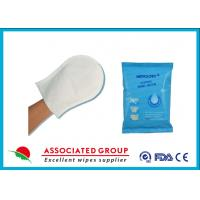 Buy cheap Disposable Rinse Free Wet Wash Gloves For Body Cleaning And Sterilizing from Wholesalers