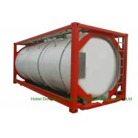 Buy cheap 316 Stainless Steel 20 FT ISO Bulk Liquid Tank Container For Hazardous Liquids from wholesalers
