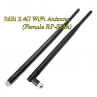 Buy cheap 7dBi 2.4G Wifi Antenna Booster RP-SMA For Linksys Router Receiver IP Camera x 2 from wholesalers