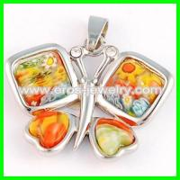 Buy cheap Steel murano glass pendant from wholesalers