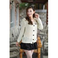 Buy cheap 2014 apparel  white knitted sweater coat from wholesalers