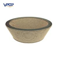 Buy cheap Bowl Shaped Cardboard Cat Scratcher , Adorable Corrugated Cat Furniture from wholesalers