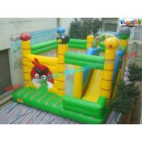 Buy cheap 0.55mm PVC Tarpualin Inflatable bouncer slide Combo , Bouncer Jumpers Custom from wholesalers