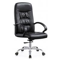Buy cheap High End  Leather Rolling Desk Chair , Stationary Swivel Office Chairs With Wheels from wholesalers