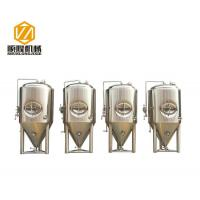 Buy cheap 1200L Beer Fermentation Tanks , Stainless Steel Double Jacket Tank Fermenter With Dry Hopping from wholesalers