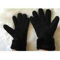 Buy cheap UGG Style Real Sheepskin Gloves Women Shearling Lamb fur Lined Work Glove from wholesalers