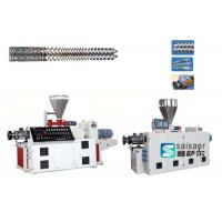 Buy cheap Industrial Plastic Sheet Extrusion Machine Conical Twin Screw Extruder Machine from wholesalers