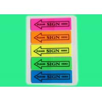Buy cheap Novelty Tabbed reusable sticky notes repositionable with no marks left from wholesalers