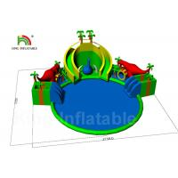 Buy cheap 20 * 8m Red Dinosaur Jungle Round Inflatable Water Parks For Rent / Blow Up Water Pool from wholesalers
