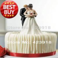 Buy cheap Free Shipping Yes to the Rose- Custom Couple Figurine Wedding Cake Topper Wedding Accessories Decoration from wholesalers