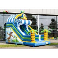 Buy cheap Tropical Inflatable Dry Slide , Surfing Happy Boy PVC Slide For Kids from wholesalers