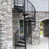Buy cheap Exterior stainless steel spiral staircase design /prefabricated outdoor metal stairs from wholesalers