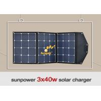 Buy cheap Easy Carrying 120w 12v Portable Folding Solar Panel KitFor Hiking / Camping product