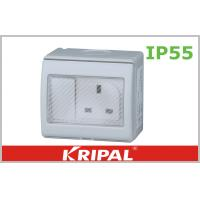 Buy cheap Flat Pin 13A IP55 Weatherproof Switch Socket 250V With British Standard from wholesalers
