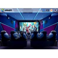 Buy cheap Shopping Mall 6D Cinema Equipment 6 Seats Motion Chairs Electric Pneumatic System product