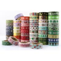 Buy cheap mini masking paper washi tape roll,China factory custom 100 rolls Halloween Christmas festival design washi paper tape from wholesalers