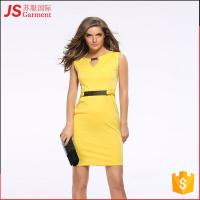 Buy cheap JS 20 Good Sales Enough Stocked Yellow Mature Lady Pencil Formal Dress 701 from wholesalers