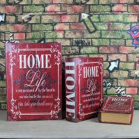 Buy cheap Set Of 3 Antiqued Book Stacking Storage Trinket Boxes Secret Storage Hollow Book Box from wholesalers