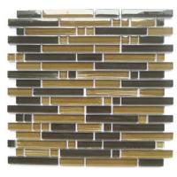 Buy cheap Natural Stone And Glass Mosaic Tiles Backsplash, Strip Glass Mosaic Floor Tile from wholesalers