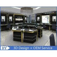 Buy cheap Custom Made Mirror Black Glass Jewelry Display Cases / Retail Jewellery Display Cabinets product