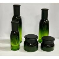 Buy cheap Green Glass Cosmetic Packaging / Safety Skin Care Containers / Cream Jar/ Lotion Bottle from wholesalers