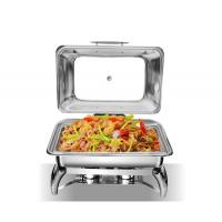 Buy cheap 2020 Latest Design Stainless Steel 304 Induction Chafing Dish For Buffet 6L Fuel Warm Chafing Dish Restaurant Stove from wholesalers