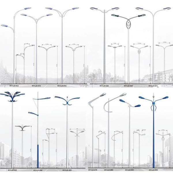 Quality Single Section Lattice Steel Pole Single Arm Street Light Steel Tubular Pole for sale
