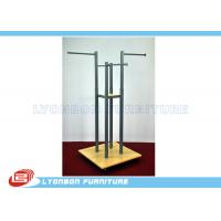 Buy cheap Grocery Four-Way Metal Wooden Display Stands For Garment Presenting from wholesalers
