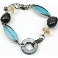 Buy cheap chain bracelet with glass and shell beads from wholesalers