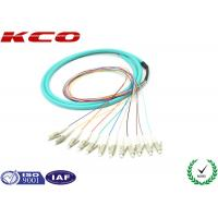 Buy cheap Fan Out LC OM3 Fibre Optic Cable Pigtail 3m LSZH Multi Fibers 12 Cores from wholesalers