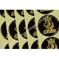 Bright Gold Glitter Resin Domed Labels Epoxy Dome Stickers Butterfly Shape