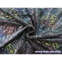 Buy cheap China sell gold print burnout 3D polyester micro velvet fabric for apparel fabric from wholesalers