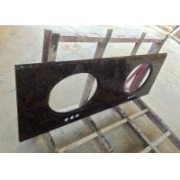 Buy cheap High Resistance Granite Vanity Tops Baltic Brown For Bathroom , SGS CE Listed from wholesalers