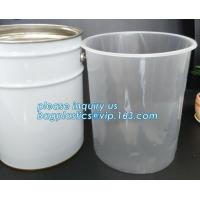 Buy cheap gallon bucket liner rigid plastic pail liner, PE Round pond liner round raised rigid pond liner 500liter, pp steel pail from wholesalers