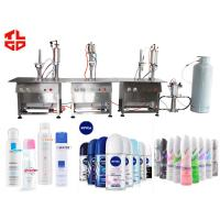 Buy cheap Semi Automatic Aerosol Filling Machine For Filling Aerosol Cans Deodorizer from wholesalers