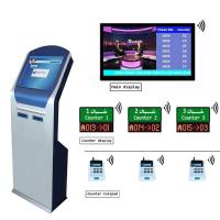 Buy cheap Bank Wireless 17 inch IR Touch Screen queuing ticket management system with Dual Printer Ticket Dispenser from wholesalers