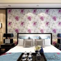 Buy cheap Chinese 0.53*10M/Roll Suede Wallpaper with Big Pink Flowers Pattern Decoration Foaming from wholesalers